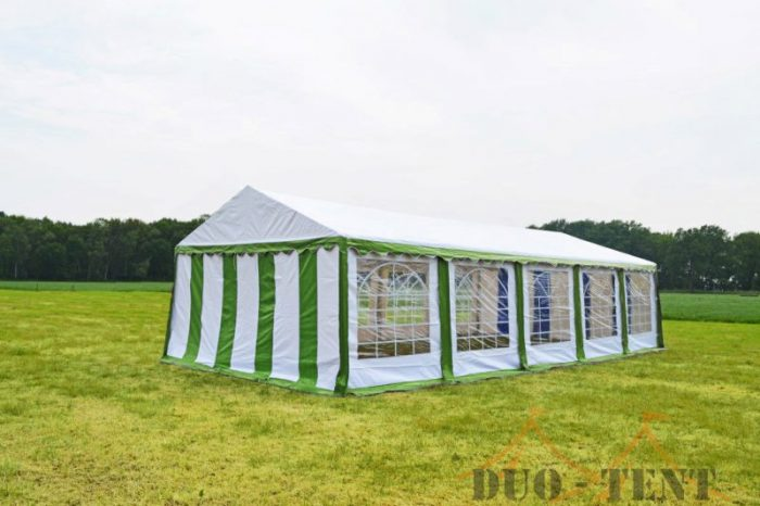 Partytent 3x10 Classic brandvertragend PVC - Groen / wit