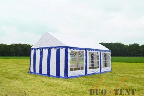 Partytent 4x6 Classic brandvertragend PVC - Blauw / wit