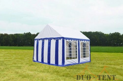 Partytent 3x3 Classic brandvertragend PVC - Blauw / wit