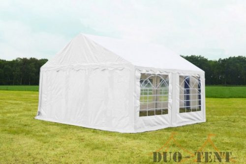 Partytent 5x4 Classic brandvertragend PVC - Blauw / wit