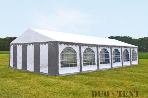 Partytent 6x12 Classic brandvertragend PVC - Grijs / wit