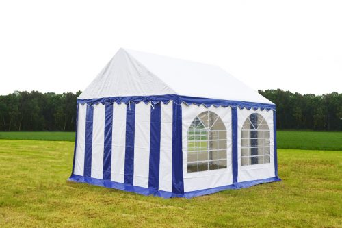 Partytent 3x3 Premium brandvertragend PVC - Blauw / wit