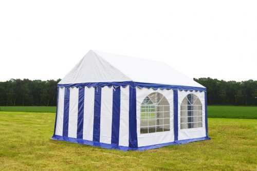 Partytent 4x4 Premium brandvertragend PVC - Blauw / wit