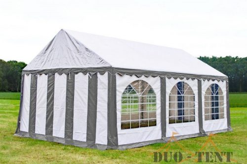 Partytent 4x6 Premium brandvertragend PVC - Grijs / wit
