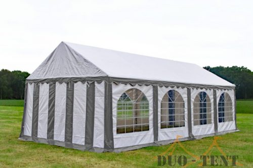Partytent 4x8 Premium brandvertragend PVC - Grijs / wit