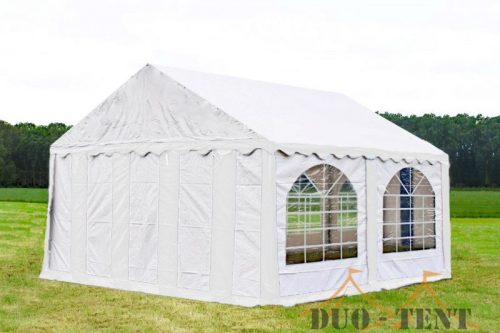 Partytent 5x4 Premium brandvertragend PVC - Blauw / wit