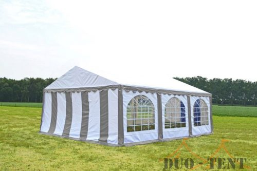 Partytent 6x6 Premium brandvertragend PVC - Blauw / wit