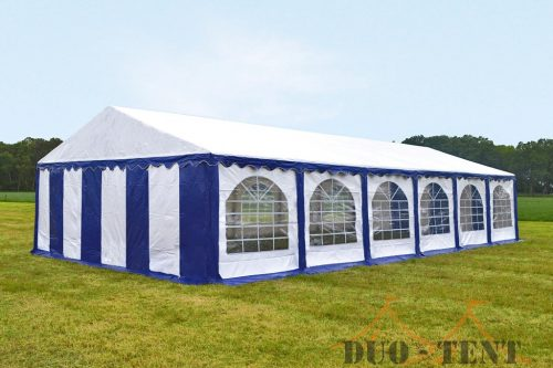 Partytent 6x12 Premium brandvertragend PVC - Blauw / wit